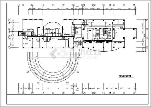 某市房管所办公楼暖通空调全套设计cad施工图-图3
