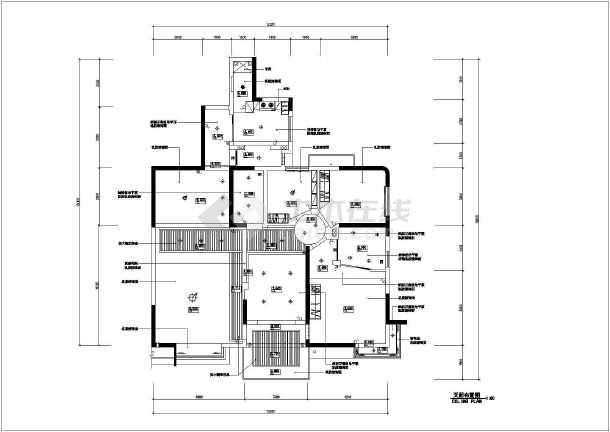 经典的住宅装修设计全套CAD施工图-图一
