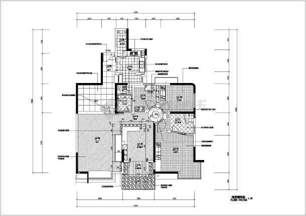 经典的住宅装修设计全套CAD施工图-图二
