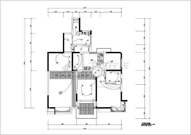 经典的住宅装修设计全套CAD施工图-图2
