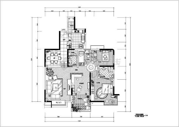 经典的住宅装修设计全套CAD施工图-图3