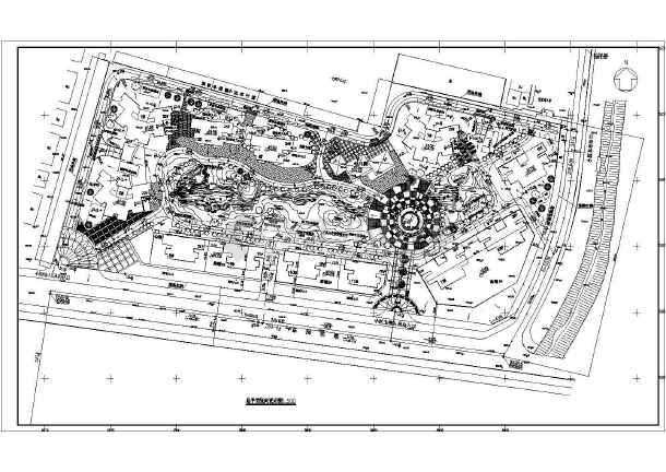 某住宅建筑小区设计施工CAD总图-图1