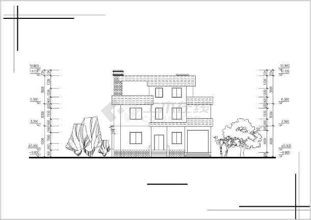 某地村镇别墅图纸-图2
