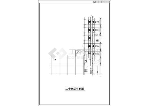某地高层综合商业建筑设计图-图1