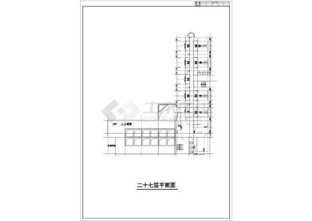 某地高层综合商业建筑设计图-图2