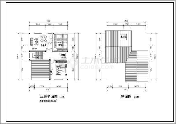 某地独院式别墅图纸-图2