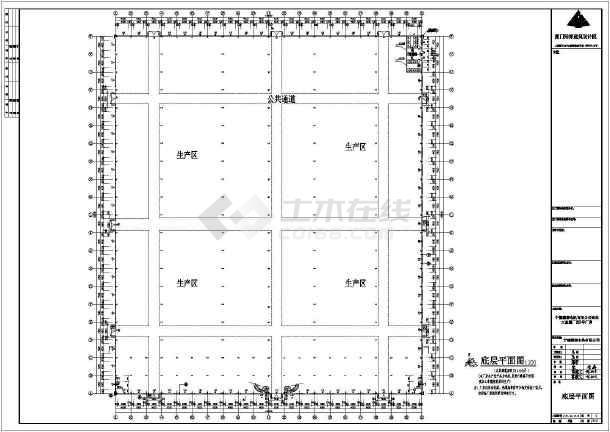 某地电机建筑工程结构CAD图-图2