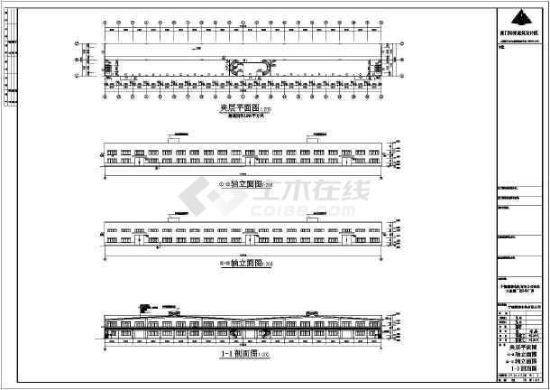 某地电机建筑工程结构CAD图-图3