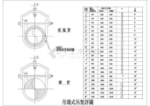 某管道吊支架系列建筑节点详图-图3