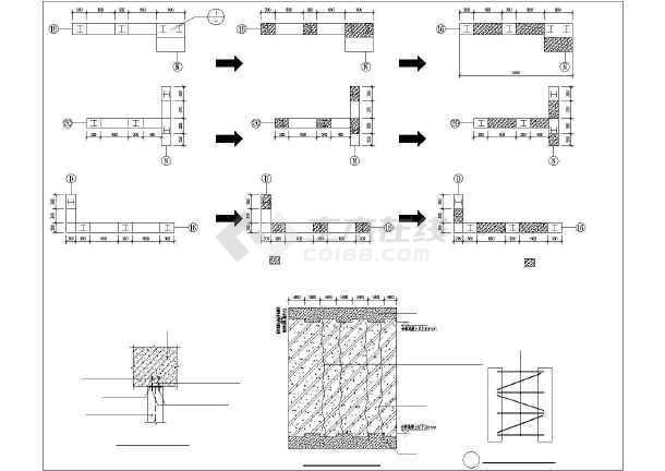 某混凝土置换结构设计图-图1