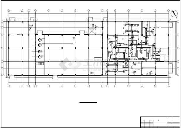 原料车间全套暖通空调图-图2