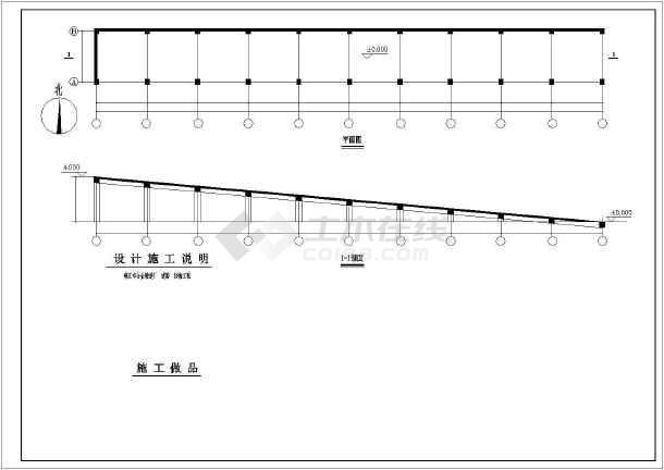 钢筋混凝土框架桥梁整套cad结构设计图纸-图2