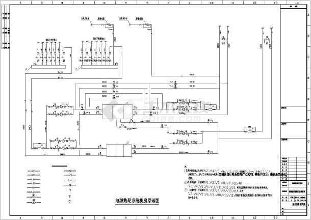 点击查看某地地源热泵暖通空调设计图纸第1张大图