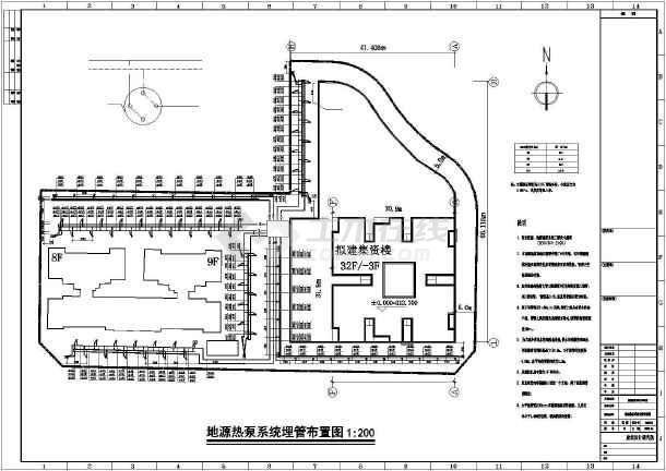 某地地源热泵暖通空调设计图纸-图3