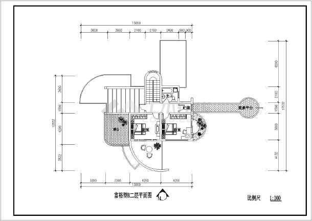 点击查看某地村镇康居住宅设计建筑图第1张大图