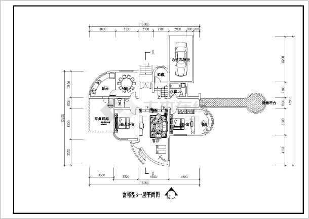 某地村镇康居住宅设计建筑图-图二