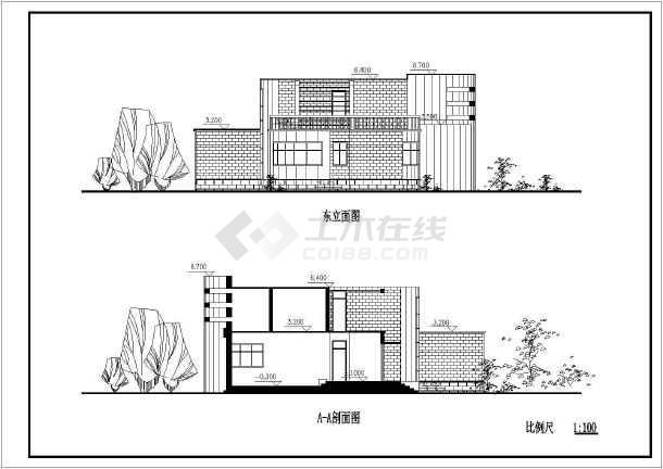 某地村镇康居住宅设计建筑图-图3