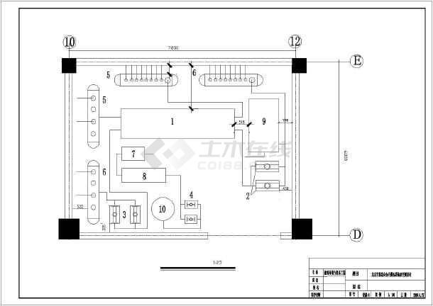 某地某办公楼地源热泵空调暖通设计图-图一