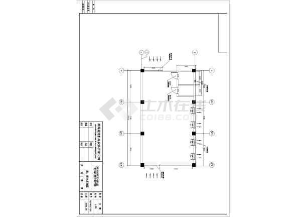 某市两台1600KW发电机环保安装工程详细设计图纸-图一