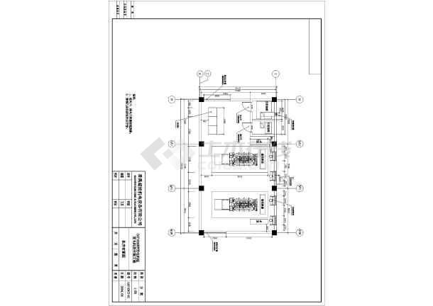 某市两台1600KW发电机环保安装工程详细设计图纸-图1