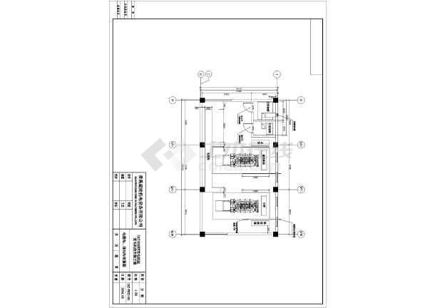 某市两台1600KW发电机环保安装工程详细设计图纸-图2