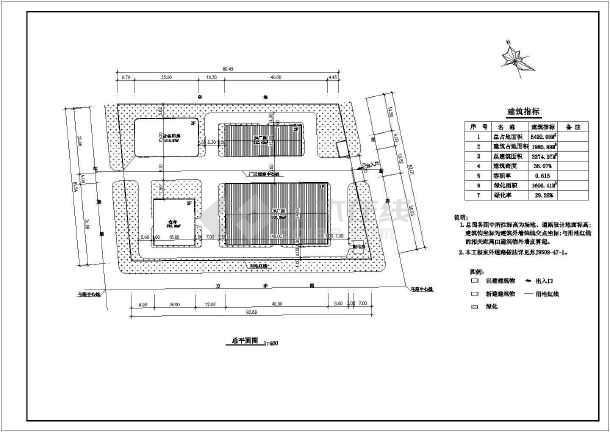 某精密仪表厂房建施图(含总图)-图1