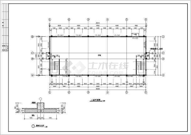 某精密仪表厂房建施图(含总图)-图2