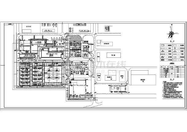 某炼油厂新建装置平面布置图-图一