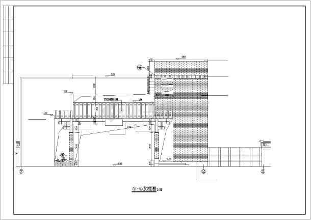 别墅小区大门建筑cad施工图-图2