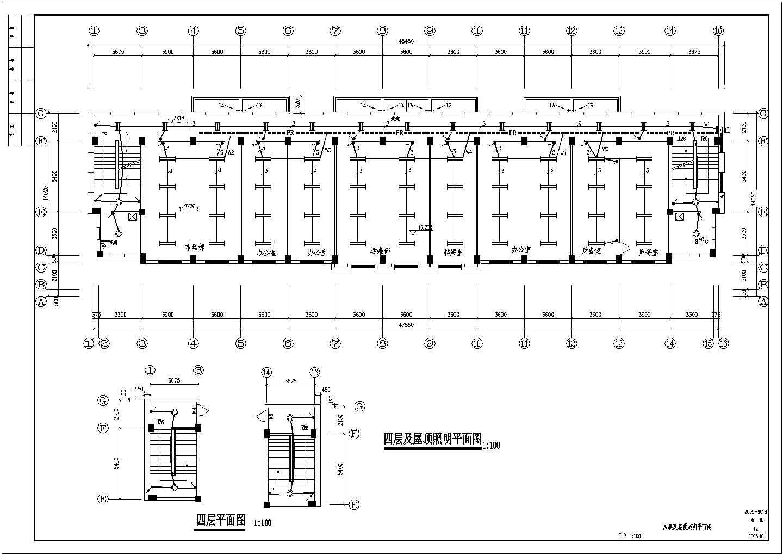 某地区电信多层办公楼电气施工图图片2