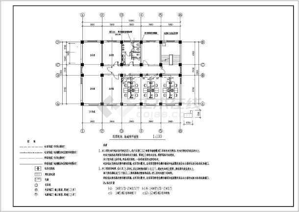 办公楼电气设计方案施工图(含设计说明)-图1