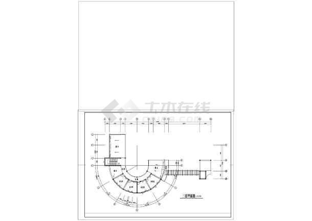 某厂区大门建筑设计施工图-图1