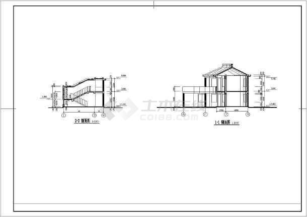 某厂区大门建筑设计施工图-图2