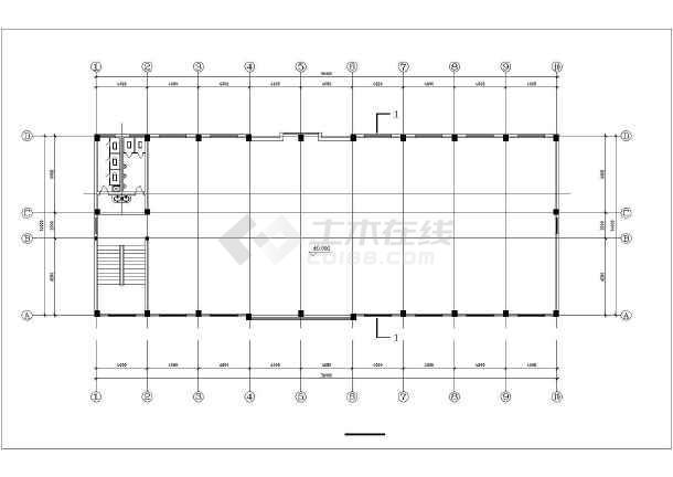 高层办公商业综合楼建筑设计图-图2
