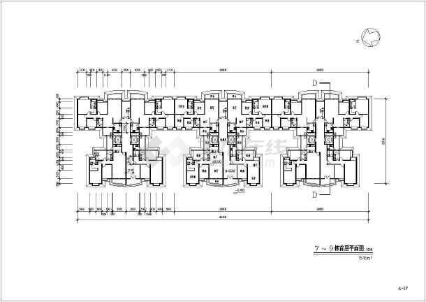 某地大型高层居住小区建筑设计图-图一