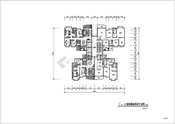 某地大型高层居住小区建筑设计图-图二