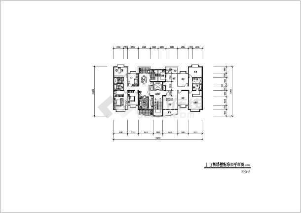 某地大型高层居住小区建筑设计图-图3