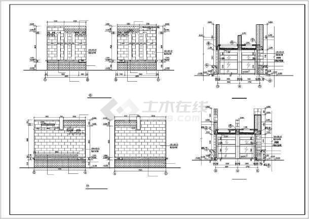 某公寓大门全套建筑设计图-图2