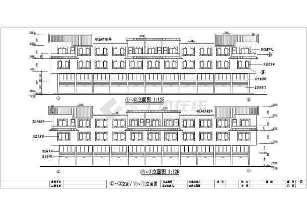 点击查看某地大市场居住楼建筑设计图(共6张)第1张大图