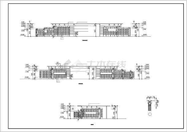 点击查看某工厂大门建筑设计图纸第1张大图