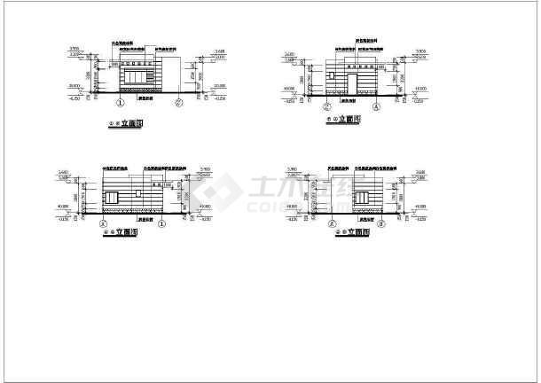 某工厂大门建筑设计图纸-图二