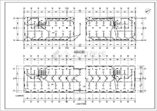 办公楼电气设计方案施工图(含电气设计说明)-图2