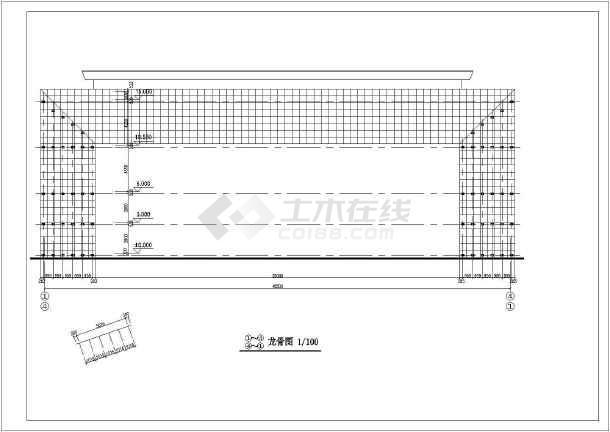 办公楼大门建筑设计cad施工图-图3