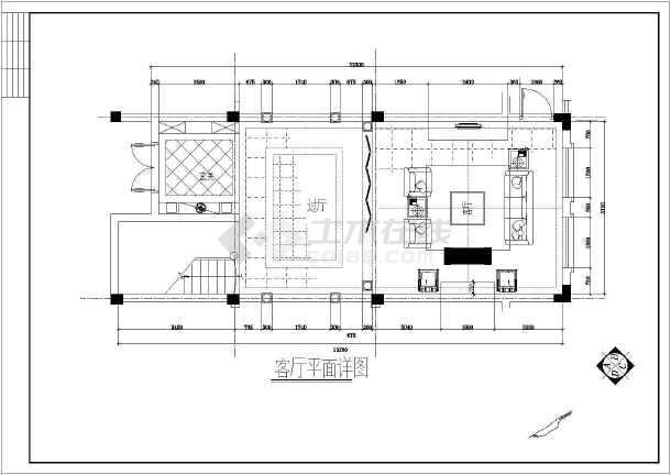 某欧式别墅整套设计装修图纸-图2
