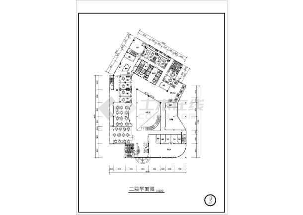 某宾馆建筑cad方案施工图-图1