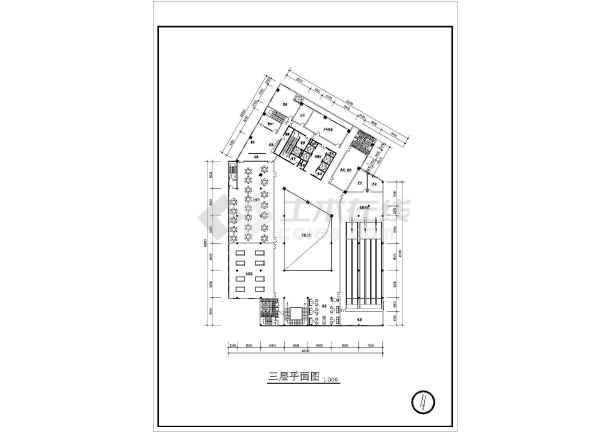 某宾馆建筑cad方案施工图-图2