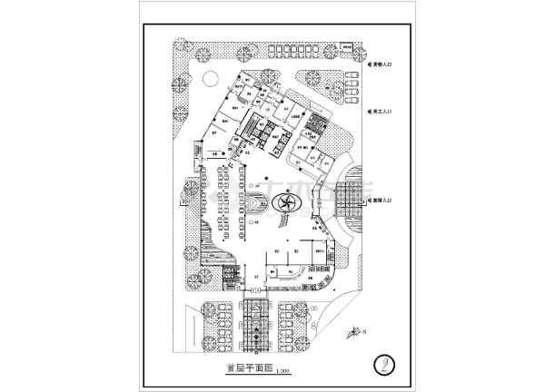 某宾馆建筑cad方案施工图-图3