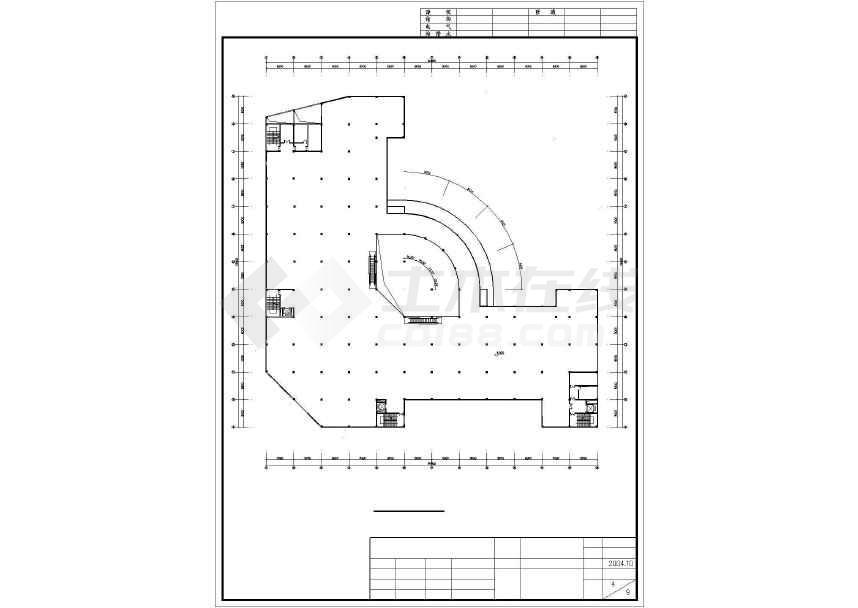 某地简单五层商场建筑设计方案图-图1