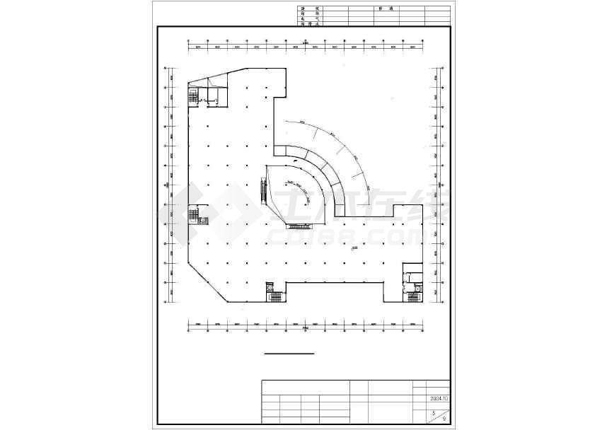 某地简单五层商场建筑设计方案图-图2