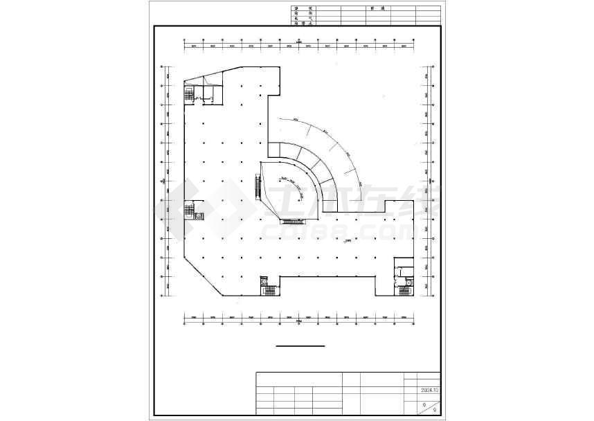 某地简单五层商场建筑设计方案图-图3